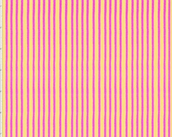 Party Stripe - Yellow/Pink - 692-307 - Loralie Designs - Fabric - Sold by the Half Yard & Fat Quarter
