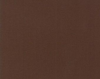 Chocolate - Bella Solids - 9900 41 - Moda - Fabric - Sold by the Half Yard