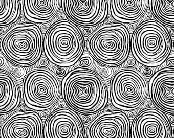 Kaffe Fassett - Onion Rings - Black - PWBM070.BLACK - Free Spirit - Fabric - Sold by the Half Yard