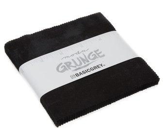 "Grunge Charm Pack - Onyx - 20 pc - 5"" X 5"" Squares - 30150PP 99 - Moda - Fabric"