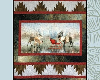 Gathering Quilt Pattern from Villa Rosa Designs - Uses a Panel