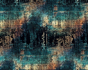 Abandoned - Fractured Mosaic - Indigo - PWTH130.INDIGO - Tim Holtz - Fabric - Sold by the Half Yard