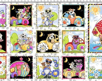 """Go Doggie - Panel 24"""" X WOF - White - 692-412 - Loralie Designs - Fabric-Sold By The Panel"""