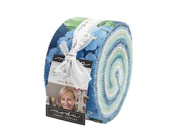 "Cottage Bleu - 40 pc. 2 1/2"" Strips Jelly Roll - 48690JR - Moda - Fabric"
