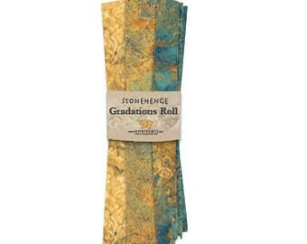 Fat Quarter Roll - Gradation - Stonehenge - Oxidized Copper - 8 Fat Quarters Per Roll - RSTONE8-69 - Northcott - Fabric
