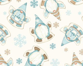 I Love Sn'Gnomies - Flannel - Cream - F9643-44 - Shelly Comiskey - Henry Glass - Fabric - Sold by the Half Yard