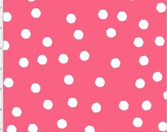 Jumbo Dots - Rose/White - 692-281 - Loralie Designs - Fabric - Sold by the Half Yard