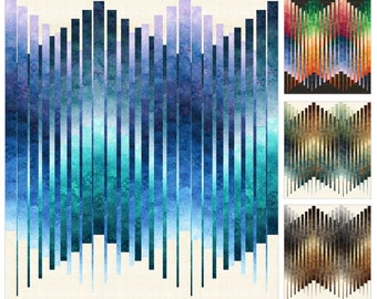 Good Vibrations Quilt Pattern - PTN2410 10 - Northcott - 4 Colors - Queen & King Sizes