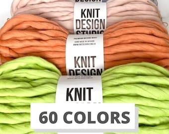 Giant yarn 300g - 60 COLORS - Super jumbo yarn - Chunky yarn - 100% merino wool 18,5 micron