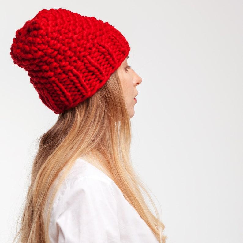 a5cdca4dc61c3b Wool Knit Hat. Knit Accessory. Chunky Knit Winter Hat. Merino   Etsy