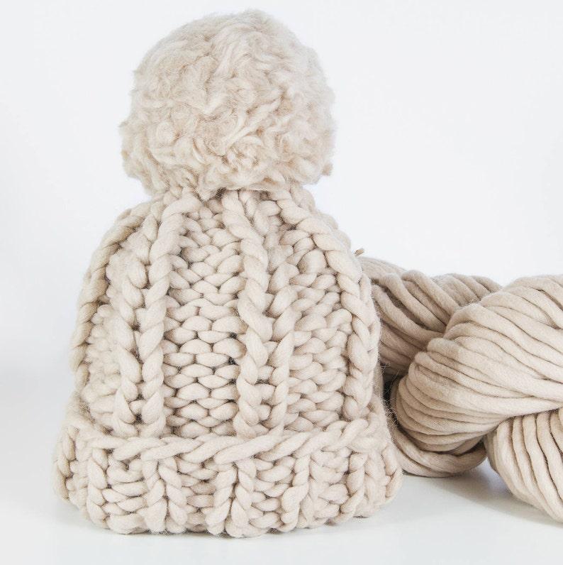 6dc4b0db9e5e98 Knit Pom Hat. Knit Accessory. Super Chunky Knit Winter Pom Pom   Etsy