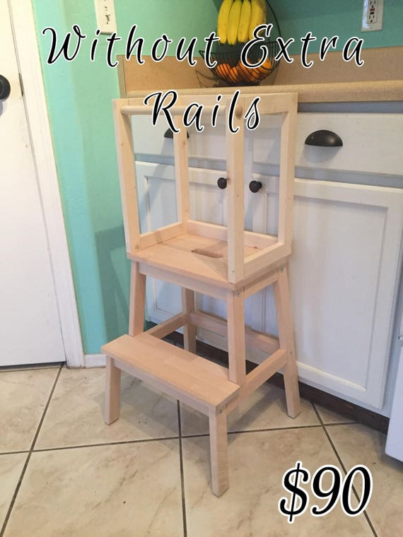 Awe Inspiring Montessori Kitchen Helper Stool Toddler Tower Wood Step Stool Unfinished Not Painted Unemploymentrelief Wooden Chair Designs For Living Room Unemploymentrelieforg