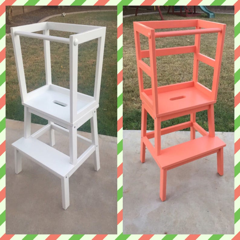 Exceptionnel Montessori Kitchen Helper / Toddler Tower Step Stool / Learning Tower