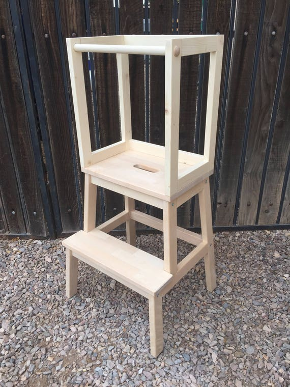 Super Montessori Kitchen Helper Stool Toddler Tower Wood Step Stool Unfinished Not Painted Unemploymentrelief Wooden Chair Designs For Living Room Unemploymentrelieforg