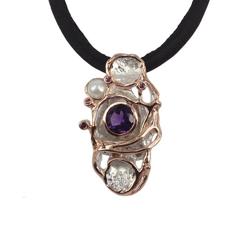 Pearl Necklace Gemstone Necklace Silver Garnet Necklace Amethyst Necklace bridal jewellery online Gemstone Jewelry Statement Necklace