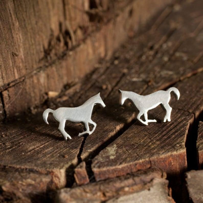 Horse Stud Earrings image 0