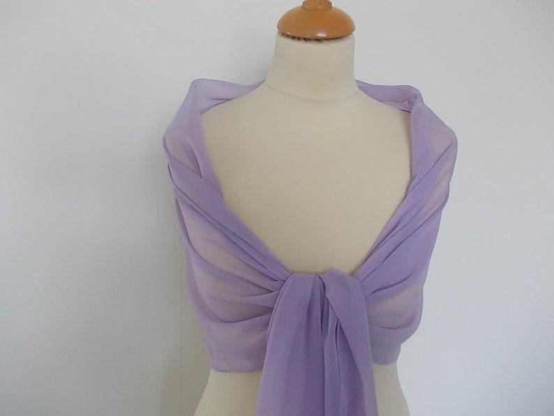 races UK seller Lilac chiffon wrap shawl scarf for bridesmaids prom weddings