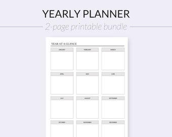 year at a glance academic year 2 pages pdf format a4 etsy