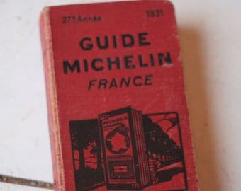 Vintage 1931 Original Michelin Guide to France / Fathers Day Gift / Gift for Him / Fathers Day / Dad Gift