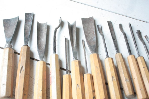 Vintage Dastra Linoleum Schnizer German Tools Woodworking Woodcraft
