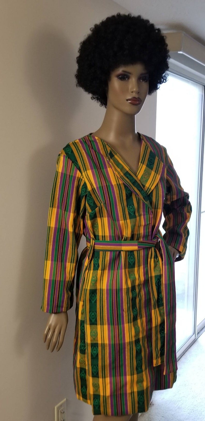Authentic Ghanaian Kente Jacket Woven Kente Jacket Ladies Kente Jacket.