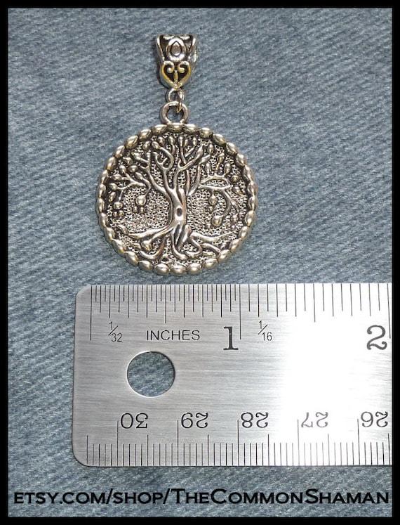 Silber Heilung Baum des Lebens Halskette Anhänger Amulett Talisman Nordic.^