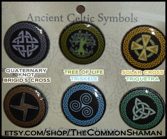 celtic symbol pins quarternary knot tree of life solar cross etsy