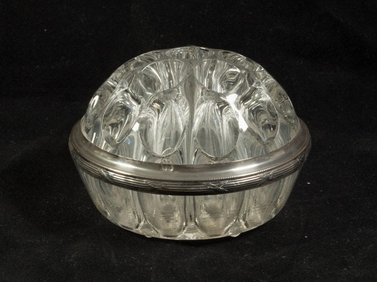 50s Glass Rose Vase With Silver Edge Silver 8001000 Vase With