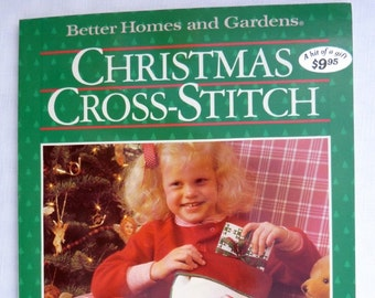 Better Homes and Gardens Christmas Cross Stitch Book Cross Stitch Patterns Charts Vintage Holiday Counted Cross Stitch Paperback Book MINT