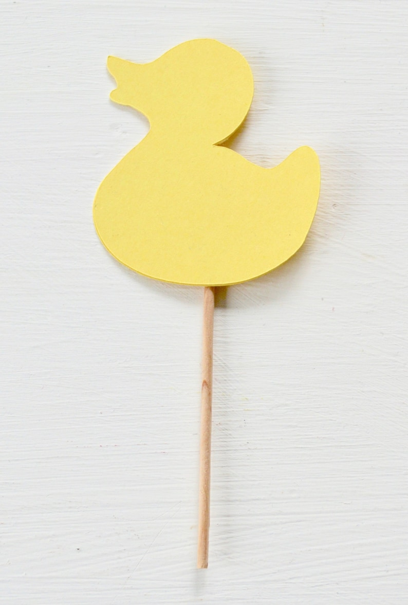 New Baby Shower Rubber Ducky Cupcake Picks One Dozen