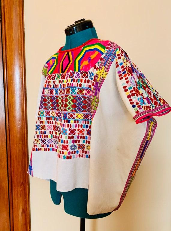 Vintage Guatemalan Huipil Embroidered Textile