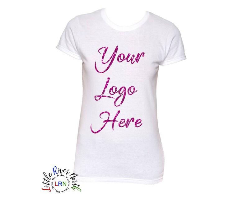 ee2b489b2 Custom Ladies Crew Neck T Shirt Custom Design Your Design   Etsy
