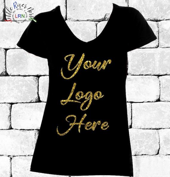 c1b6cab46 Custom Ladies V Neck T Shirt Custom Design Your Design   Etsy