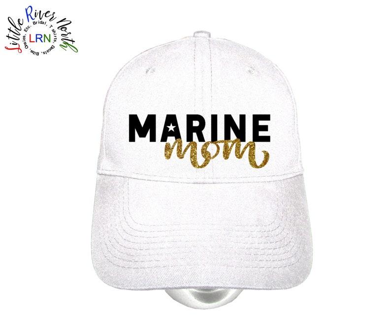 d5a6504c4bea4 Custom Ladies Hat Marine Mom Personalized