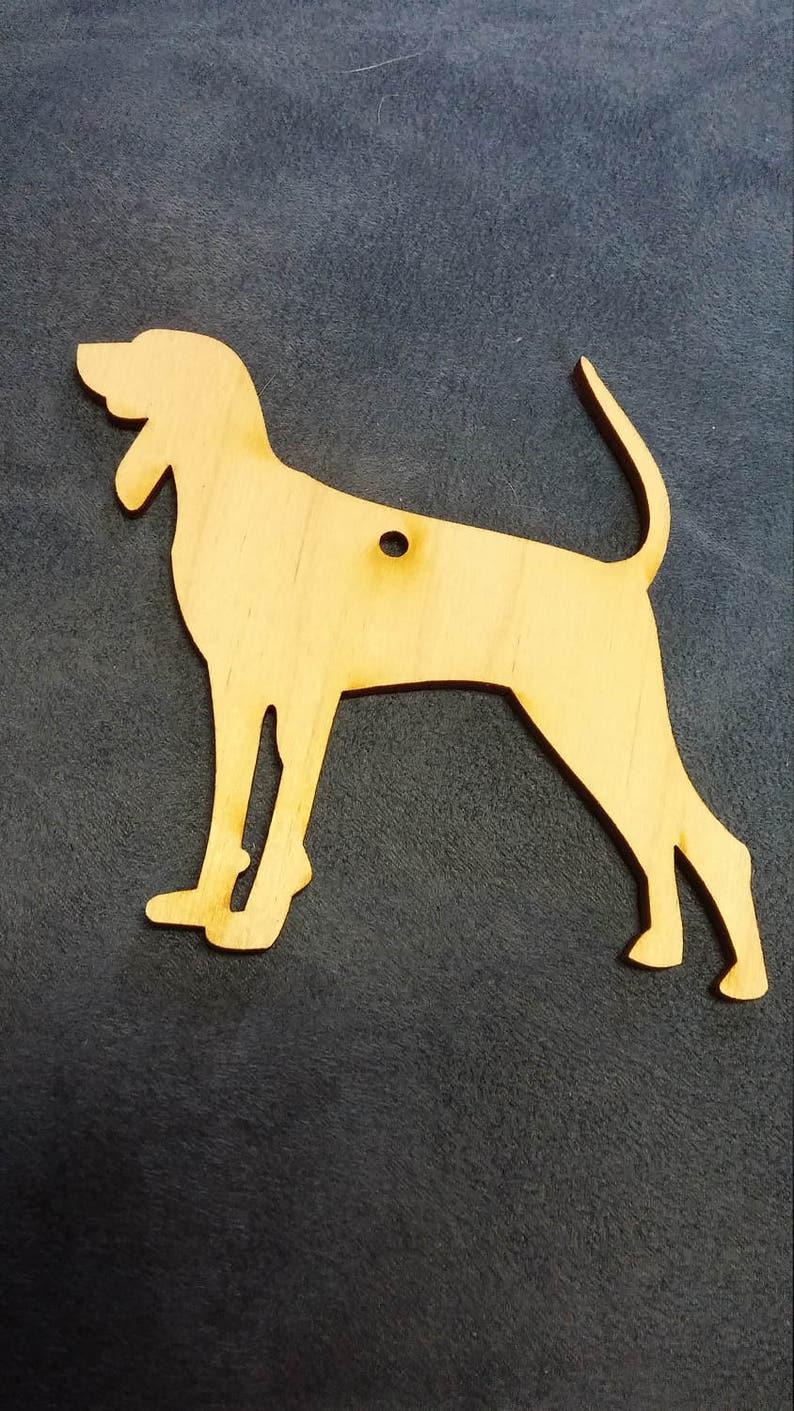 Bloodhound dog ornament custom cutout wood