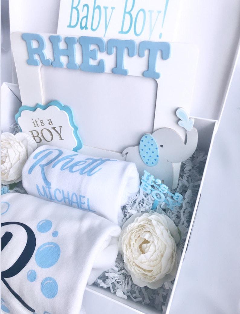 Welcome Baby Boy Gift Box Baby Boy Gift Basket New Baby | Etsy