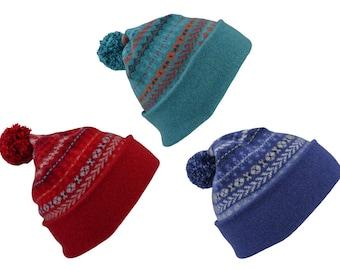 c0491115df3 6 colours. Fair isle ski hat winter hat pom pom hat bobble
