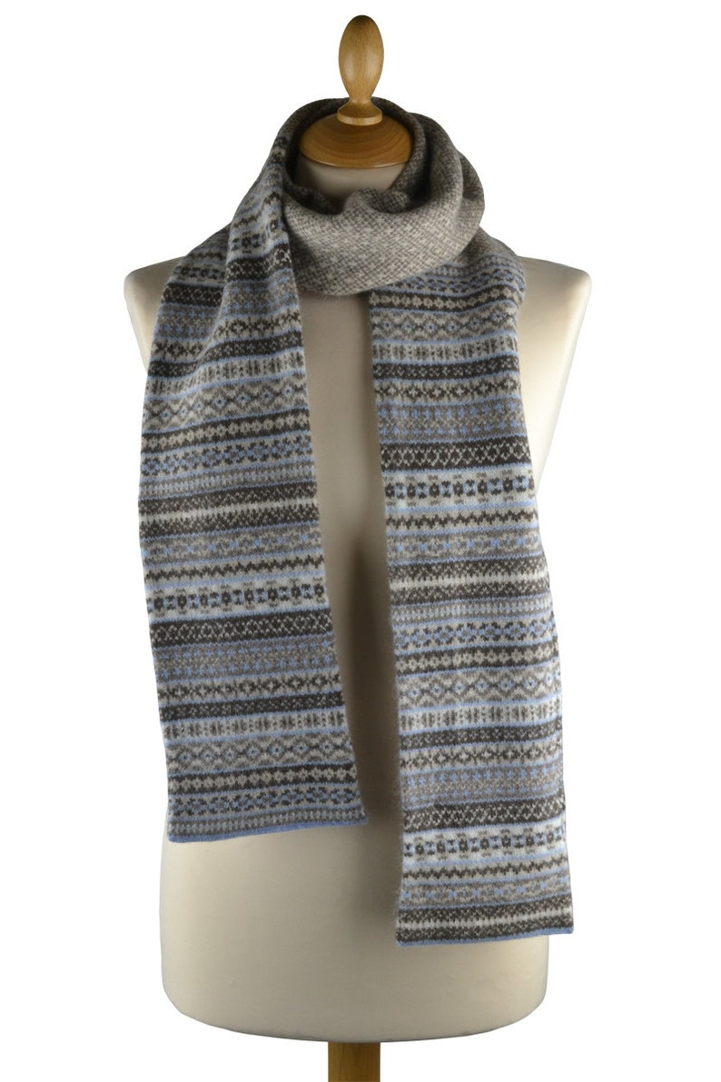 e100cc9a8ceff Fair isle Scottish lambswool tweed knitted winter