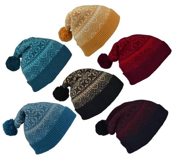 e7b3b780f6a4d 6 colours. Fair isle ski hat winter hat pom pom hat bobble