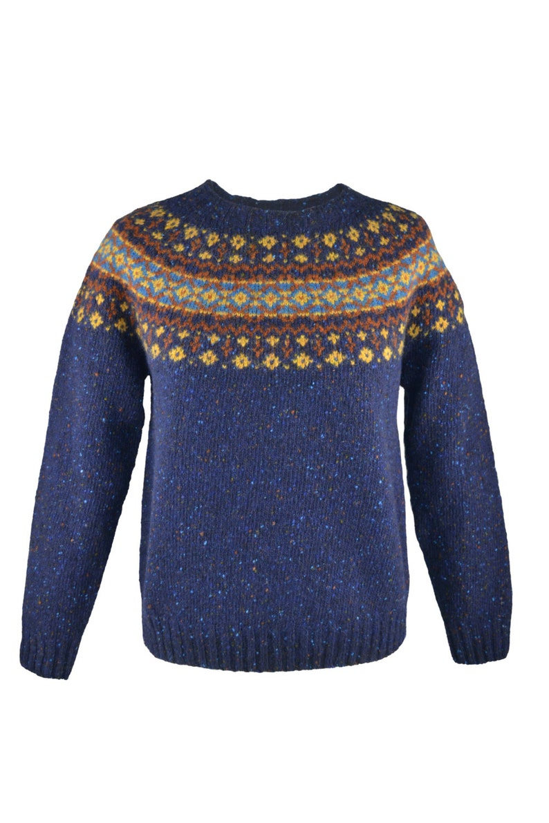 8 colours. Womens Fair isle jumper sweater Teal Red Aqua Blue