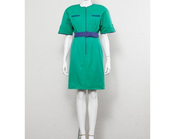98e57f79 Stunning vintage early 1980s VALENTINO space age sheath dress