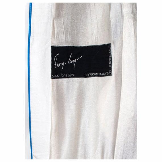 Rare vintage late 1970s white leather applique FO… - image 10