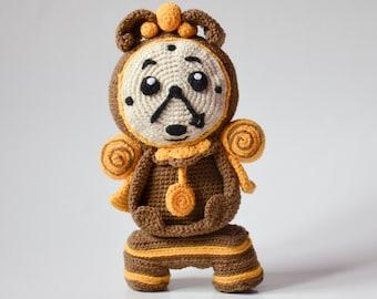 Crochet PATTERN No 1625 - Enchanted clock pattern by Krawka