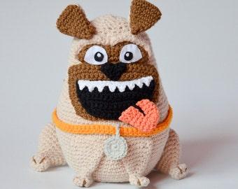Crochet PATTERN - The PUG pattern by Krawka, dog, crochet, dopey, smile, puppy