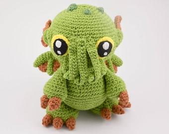 Crochet PATTERN No 1718 Cthulhu baby monster pattern by Krawka,