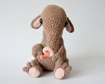 Crochet PATTERN No 1713 Anteater by Krawka,