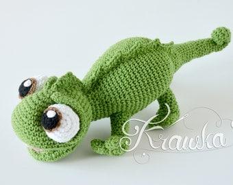 Crochet PATTERN No 2106 Chameleon crochet pattern by Krawka