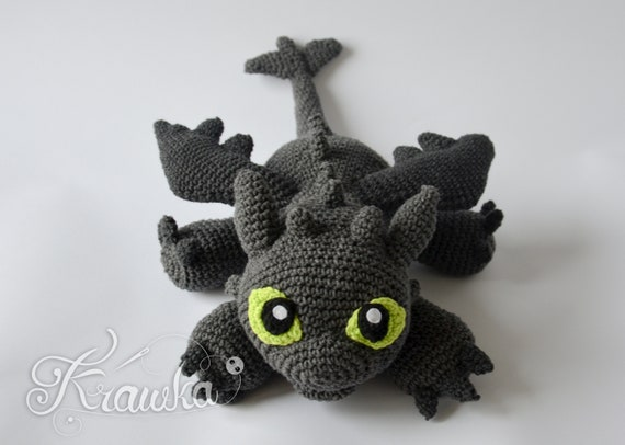 Crochet PATTERN How to Train Your Dragon