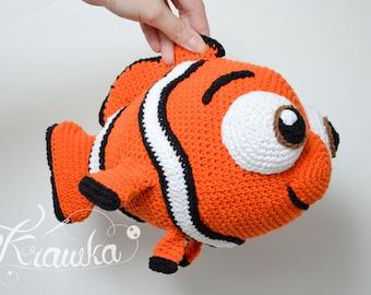 Crochet PATTERN No 1801 Orange clown fish by Krawka