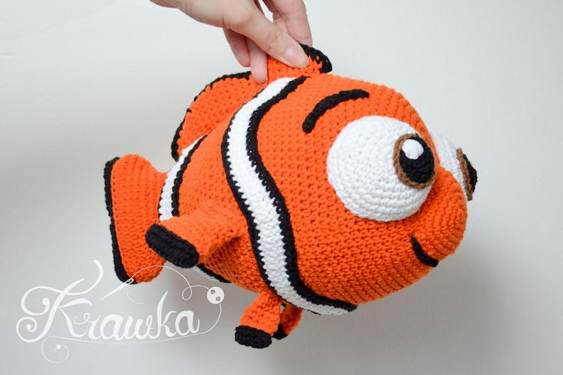 Crochet PATTERN No 1801 Orange clown fish by Krawka image 0